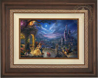 Thomas Kinkade Studios Disney Beauty and the Beast Dancing 12 x 18 LE S/N Canvas