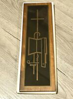 Vintage The Ministry of The Word Wall Plaque Cross Staff Boxed