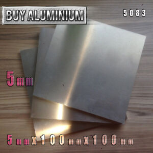 5mm Aluminium Plates 100mm x 100mm - 5083