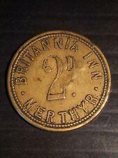 More details for welsh pub token britannia inn merthyr 2 penny (united kingdom)