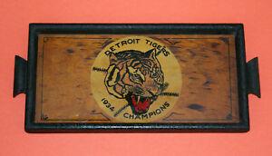 Scarce antique 1934 DETROIT TIGERS / WORLD SERIES baseball wood Serving Tray