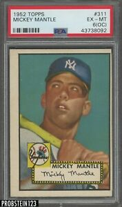 1952 Topps #311 Mickey Mantle RC Rookie PSA 6 (OC) NO CREASES CLEAN SURFACE
