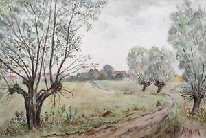 "Facklam, Wilhelm (1893 Upahl – 1972 Winkelhaid) ""Mecklenburger Landschaft""  1944"