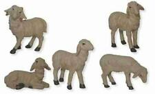 Animales Ovejas Rebaño de Ovejas Set de 5 Piezas para Figuras 15-18 Cm
