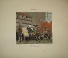 Stampa antica Avvocato lawier incisione engraving gravure grabado legge