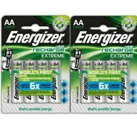 8 x Energizer AA 2300mAh NiMH Pre-charged Rechargeable Batteries - HR6 MN1500