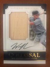 2017 national treasures baseball Wil Myers Colossal Signatures Bat 24/25