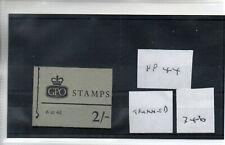 GB - Stamp Booklet - (346)  2/-d Booklet - NP44 - Trimmed  perfs