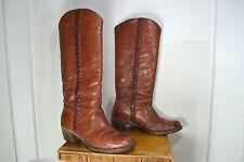 VINTAGE FRYE Reddish Brown Leather Western / Cowboy / Fashion Boots, Womens 10 B