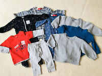 """Funny Baby T-Shirt /""""Spotty Neck Tie /& Sunglasses/"""" Cute Clothes Glasses Holiday"""