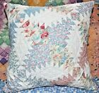 Large Throw Pillow From Vintage Farmhouse Log Cabin Pineapple Quilt