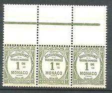 MONACO TAXE N° 13 X 3 Neufs ★★ luxe / MNH  1924  BDF