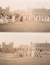 More details for 6 unused pageant rp old postcards freedom fields park lipson plymouth 1914
