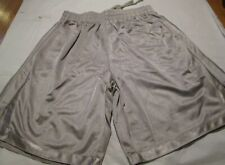 Sport Short 100% Polyester 2 pocket Large Ash Gray Heavy Weight Elastic & String