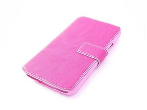 Samsung Galaxy S5 Mini Case Genuine Leather Card Slots Pink Wallet