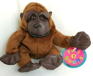"""Rare AVON® Full O'Beans™ Brown GORILLA - 7"""" - New with Tags"""
