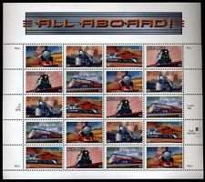 US Scott 3333-3337 Famous Trains Mint Panel of 20 Superb