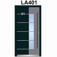 WeltHaus Haustür Türen  WH94 Premiumtür Aluminium mit Kunststoff Tür Model LA401
