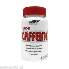 Nutrex LIPO 6 Caffeine Koffein Energy Tabs Diät / Fatburner Fettburner Fettabbau