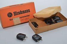 Vintage Schwachstromstecker / Kabel-Stecker von Hirschman, 2-polig, NOS