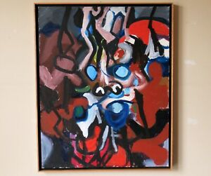 Mid Century Modern Abstract Expressionist Painting by Lee Byron Jennings,1961