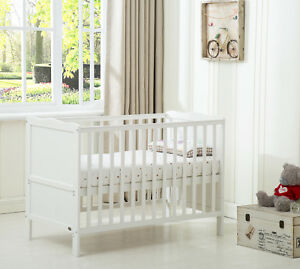"MCC®  Wooden Baby Cot Bed ""Orlando"" & Aloe Vera Water repellent Mattress"