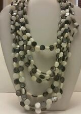 Gorgeous designer black and white agate beaded multi layer necklace