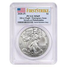 2020 (P) 1 oz Silver American Eagle PCGS MS 69 FS Emergency Issue