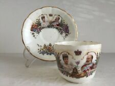 Antique British Royal Queen Alexandra King Edward VII Coronation Cup and Saucer