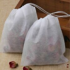 10, 20, 50, 100 Empty Tea Bags Loose Herbs Teabag with Drawstring 5.5*7cm