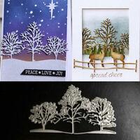 DIY Christmas Snow Tree Metal Cutting Dies Stencil Embossing Craft Paper Card Sd