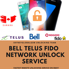 NETWORK UNLOCK SERVICE for IPHONES TELUS FIDO BELL CANADA ALL iPHONE MODELS