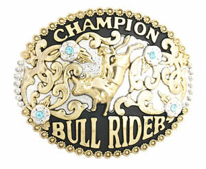Champion Cowboy Bull Rider Western Metal Belt Buckle