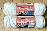Lot 2 Caron Dazzleaire Off White Knitting Yarn 2615 Soft