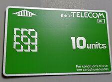 Großbritannien - BTD - 001  - 10 units** - Erstausgabe - Schalterausgabe