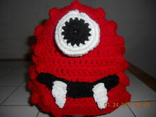 Boutique Crochet Red Monster Hat Character~ Any size!