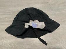 RRP £35 * CATIMINI * Girls Kids Designer Hat * Age 2-3 , 49cm * Charcoal Grey