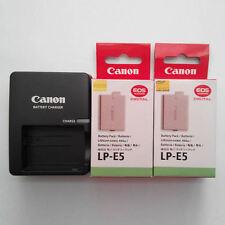 2x LP-E5 Battery & LC-E5E Fr Canon XSi 450D 500D 1000D EOS-Kis F T1i XS X2 X3 E5
