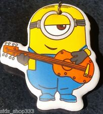 MINIONS ! Guitar Hero Soft Keychain Key chain collectible DESPICABLE ME