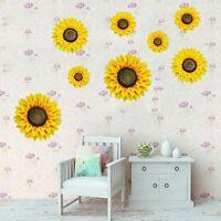 1 Piece Artificial Fabric Sunflower Wall Sticker Removable Wall Decal Home Art