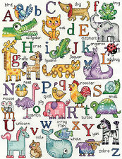 Cross Stitch Kit ~ Design Works ABC Animals Cute Alphabet Sampler #DW2852