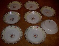 8 Haviland & Co France Limoges Plaza Pattern Soup Bowls Perfect Condition