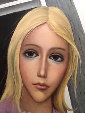 Margaret Keane Vintage Mid Century Litho Print Emerging Blonde Lady + Free SALE