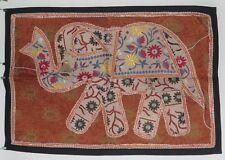 Recycled Fabric Patchwork Elephant Indian Wall Hanging 94 x 65 cm (PW3)