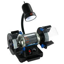 DELTA 6-in Bench Grinder 2.5 Amp 3400 RPM Variable Speed Wheel Grinder w/ Light