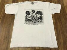 LARGE - Vtg 1990 Badbob Screaming Man Punk Rock Band Single Stitch 90s T-Shirt
