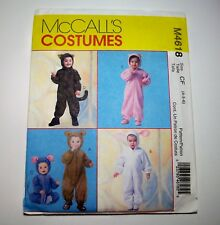 McCall's M4618 Animal Costumes Halloween PATTERN for Children Size 4-5-6 Uncut