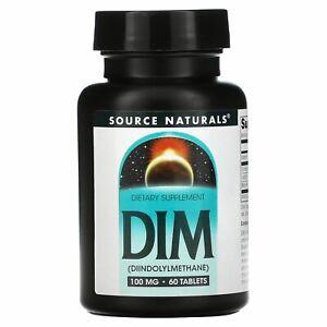 Source Naturals, DIM, 100 mg, 60 Tablets