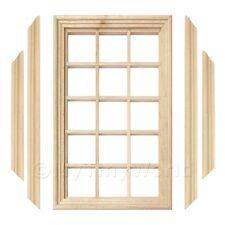 Puppenhaus Miniatur 15 Ausschnitt Georgischer Fenster, Rahmen Und Verglasung