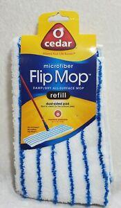 O-Cedar Microfiber Flip Mop Refill 1 Surface Area Dust 2.72 Ounces Washable Pad